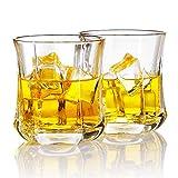 Homii Vasos de Whisky, Juego de Vasos, Vasos de Agua, Vaso de Vidrio Transparente sin Plomo,...