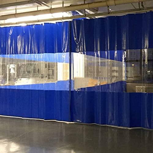 KUAIE Telo Trasparente Tenda di Giunzione in PVC con Occhielli Impermeabile per Giardino,Terrazza,Portico,Personalizzabile (Color : Clear Blue, Size : 2.3x2.5m)