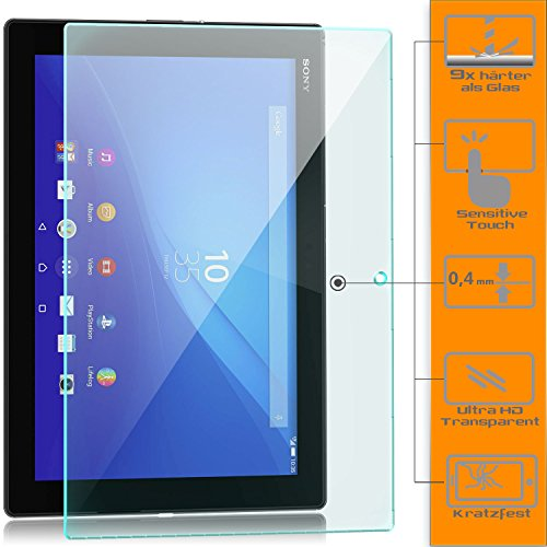 zanasta Sony Xperia Z4 Tablet - Screen Protector Tempered Glass Film / 0.4mm Thickness / 9H Hardness/HD Crystal Clear