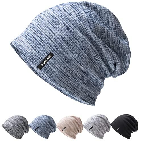 HASAGEI Mütze Herren Leicht Slouch Beanie Mütze Damen Weiche Jersey Mütze Ideal für Frühling Herbst und Winter