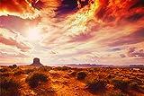 Sonne Australien Steppe Wolken Bild XXL Wandbild Kunstdruck