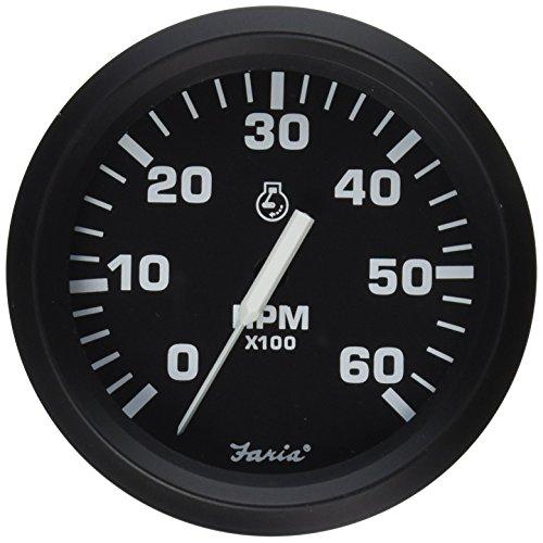 Faria 32804 Tachometer - 6000 RPM, Euro, Black
