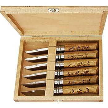 Opinel O001637 Caja de Coleccionista de 6 Navajas N°08, Unisex, marrón, M: Amazon.es: Deportes y aire libre