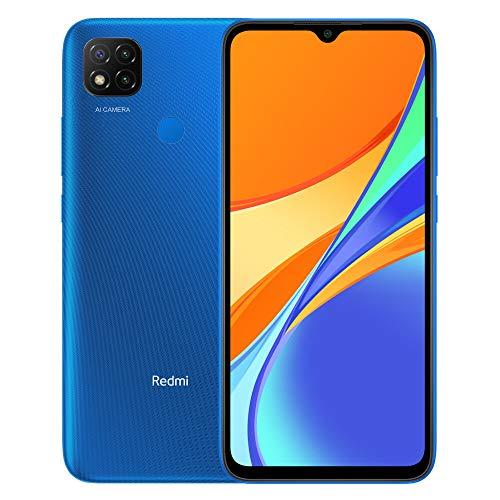 "Xiaomi Redmi 9C Smartphone 3GB RAM 64GB ROM Teléfono Inteligente,MTK G25 Octa Core Procesador 6,53"" DotDrop Pantalla,Dual SIM Micro-SD,13MP Triple Cámara AI Face Unlock (Azul)"