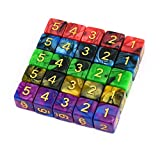 25pcs included with each 16mm size These dice can be used as:Classroom Teaching Aids/Dice for Role Playing Games/etc Colors are as shown in the pictures.