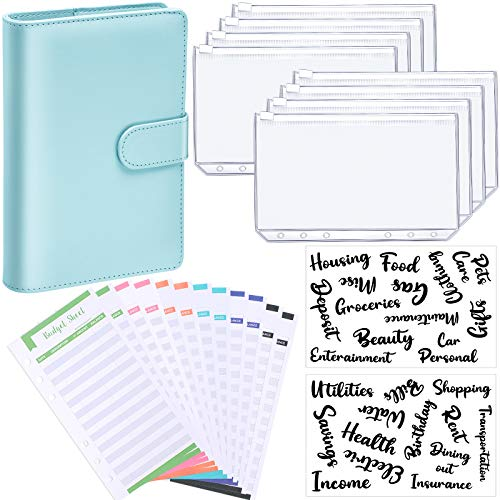 YoeeJob 3-Hole Letter Size Clear Binder Zipper Pockets Insert Pages 8 1//2 x 11 Organizer Filling Storage with Card Slots Assorted Zippers 8 PCS