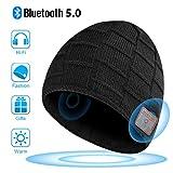 Bonnet Bluetooth Hommes et Femmes, Cadeaux de Noël, Mains Libres pour la Musique HD...