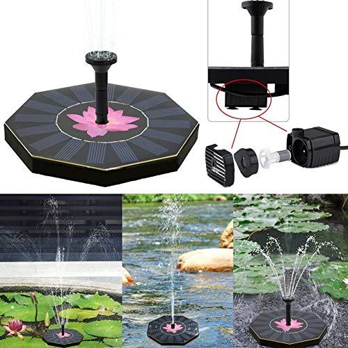 Jardín Suministros Bomba de Fuente Flotante de Agua de energía Solar de Piscina de la Fuente del jardín riego de Plantas de energía Solar de Piscinas de jardín