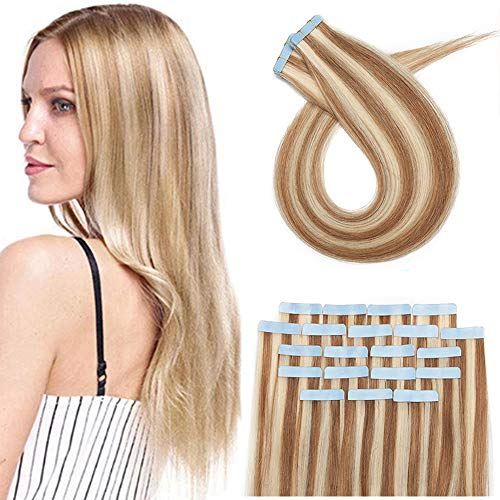 Silk-co Extension Bande Adhesive Extension A Froid Cheveux Naturel 20 PCS(1.5g/pcs) Extension Bande Adhésive Tape In Hair Extension - 18\