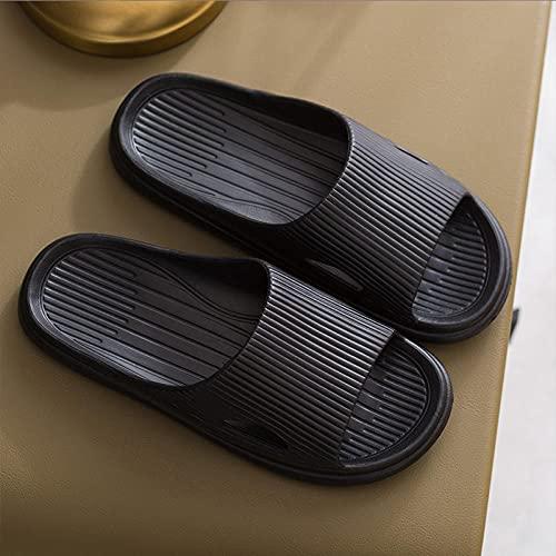 WENHUA Zapatos de Playa y Piscina Hombre Mujer, Zapatos de Masaje Anti-Pulpo, Zapatos deslizantes sólidos Suaves-Negro_40-41, Mujeres/Hombres Zapatilla de Baño Zapatos