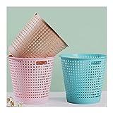wantanshopping Cubos de Basura Paquete de Basura de plástico Cocina Cocina Baño Baño Basket Basket Oficina Hogar Abierto Abra la Basura Descubierta 3 Paquetes Bote de Basura (Size : A-Large)