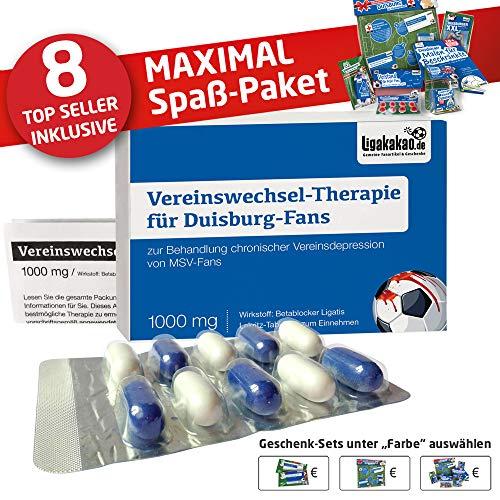 Duisburg Fahne ist jetzt das MAXIMAL SPAß Paket für MSV-Fans by Ligakakao.de | große Hissfahne mit Vereins Logo, blau-weiß