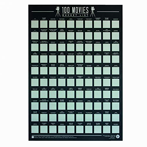 Gift Republic GR630004 100 Movies - Scratch Off Bucket List Poster