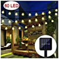 BAOANT Solar String Light Crystal Ball Waterproof String Lights Solar Powered Fairy Lighting for Garden Home Patio Landscape Holiday Decorations