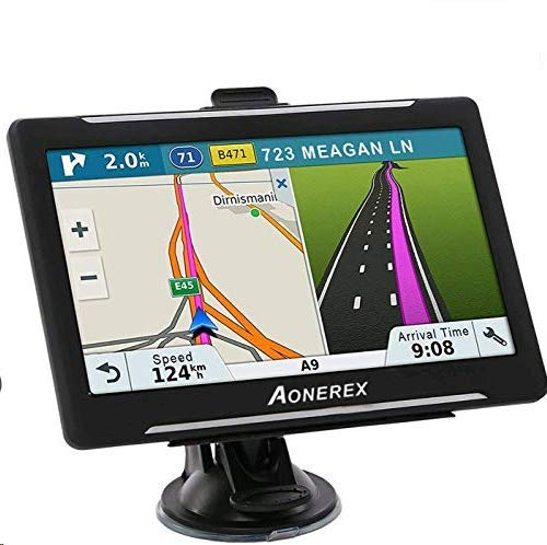 Car GPS Navigation 7-inch Touch Screen Voice Navigation, Speed Warning, Route Planning, 8GB 256M Real-time Voice Prompts, Free Lifetime Map Updates
