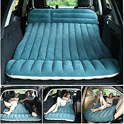 WEY&FLY SUV Car Air Mattress, Thickened and Lengthened Flocking Travel Mattress Camping Air Bed Dedicated Mobile Cushion Extended Outdoor Sleeping Blow Up Pad with 2 Piers for CAR MPV SUV