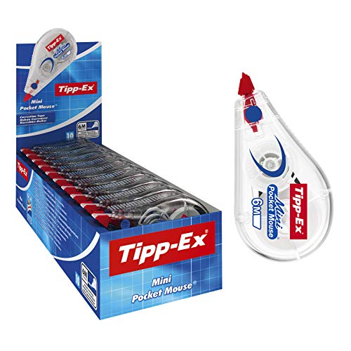 Tipp-Ex Mini Pocket Mouse Korrekturroller, 10 Roller in praktischer Displaybox, 6m x 5mm, Ideal für das Home Office oder das Büro, Vorratspack