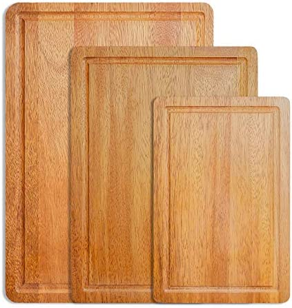Acacia Wooden Cutting Board Chopping Board Set of 3 Extra Large for Meat Cheese Bread Vegetables product image