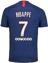 Paris St Germain 19-20 Season Home #7 MBAPPE Mens Soccer Jersey Blue (Size:S-XXL)