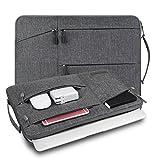 WIWU Laptop Tasche 15,6 Zoll Premium wasserdicht stoßfest Laptoptasche mit Griff für Acer Aspire E15 E5-575G, ASUS, Toshiba, Dell Inspiron, Lenovo, MSI, HP Notebook Aktentasche - Grau