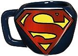 Superman Taza Desayuno, Cerámica, Azul, 1 Unidad (Paquete de 1)