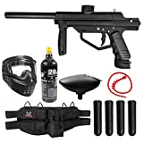 Maddog JT Stealth Semi-Automatic .68 Caliber Silver CO2 Paintball Gun...