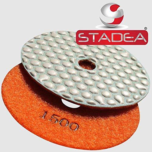 STADEA Diamant-Polierpad 10,2 cm trocken, 1 Stück für Marmor, Beton, Travertin Fliesen und Terrazzo Polieren, 4332949960