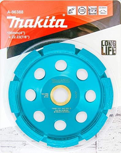 Makita 1 Pack - 4' Diamond Cup Wheel For 4.5'+ Grinders - Aggressive Low Vibration Grinding For Concrete & Masonry