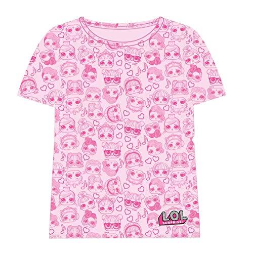 Cerdá Camiseta Manga Corta LOL, Rosa (Rosa C07), 6 años para Niñas