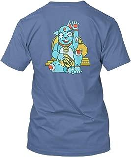 Blue Lucky cat Tshirt - Hanes Tagless Tee