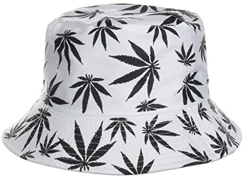 Brandsseller Sonnenhut Cannabis Design Fischerhut Sommerhut Strandhut Travel Cap 100{c30f164418aae91d4cc7b15a4229267d0614c64267bed7fb46884967e14fcba3} Baumwolle Weiß
