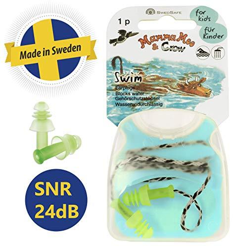 SwedSafe Mamma Moo Swim oordopjes - oordopjes om te glijden, douchen en baden Oordopjes Eén maat groen