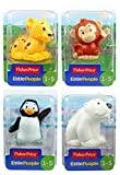 Little People Fisher Price Zoo Animal Figures 4 Pack - Cheetah, Monkey, Penguin & Polar Bear - Set 3