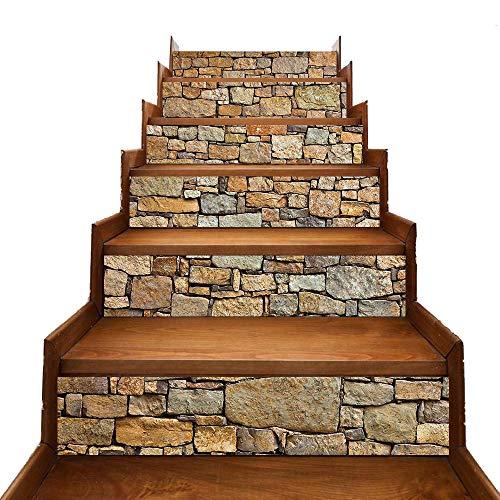 Magiin DIY Fliesenaufkleber Fliese Decals wasserdicht Home Decor Treppe Aufkleber Decal Treppe Wandbild Decals (A)