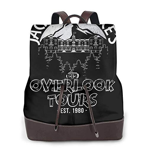 Jack Torrances Overlook Tours The Shiningladies Leather Backpack, Leather Fashion Backpack Travel Daily Backpack