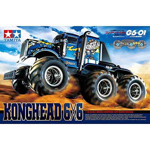 TAMIYA 58646 - 1:18 RC Konghead 6x6 (G6-01), ferngesteuertes Auto/ Fahrzeug, Modellbau, Bausatz, Hobby, Basteln,...