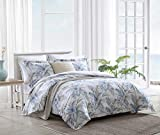 """MATERIAL: 100% Cotton Construction- with a soft and breathable feel SET INCLUDES: One comforter and two king shams FEATURES: Comforter reverses to a solid ivory and features a polyester fill DIMENSIONS: Comforter- 96""""L x 110""""W, King Shams- 21""""L x 37""""..."""