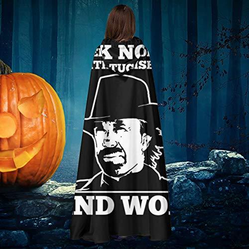 NULLYTG Chuck Norris - Disfraz de Capa de Vampiro con Capucha, diseo navideo