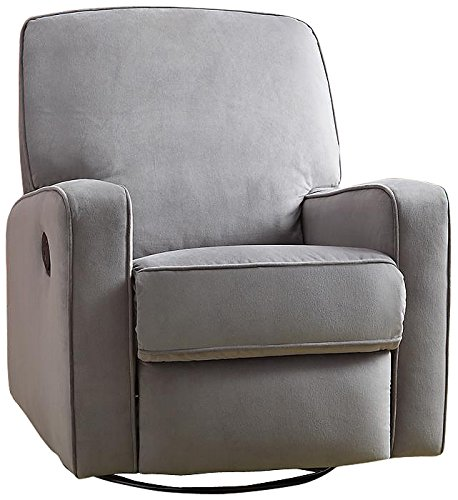 Pulaski Sutton Swivel Glider Recliner, Zen Grey with Stella...