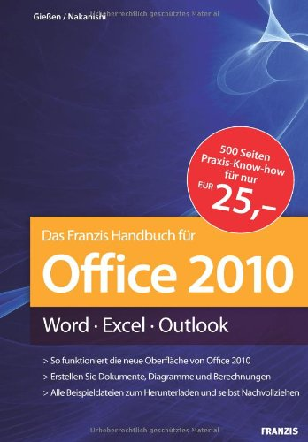 Office 2010 Handbuch: Word - Excel - Outlook