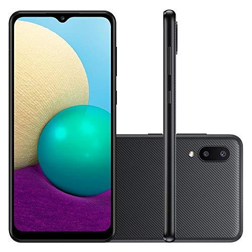 Smartphone Samsung Galaxy A02 32GB 13MP 6.5 Quad Core Preto