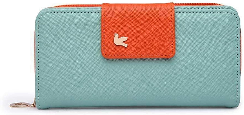 Girls Purse Women's Wallet Ladies LargeCapacity Wallet Multifunctional Hand Bag (color   B)