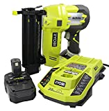 Ryobi 3 Piece 18V One+ Airstrike Brad Nailer Kit (Includes: 1 x P320 Brad Nailer, 1 x P102 2AH 18V Battery, 1 x P117 IntelliPort Dual Chemistry Battery Charger) (Renewed)