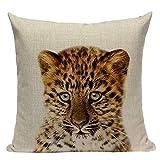 J.T.Hatched Funda de cojín de diseño moderno de leopardo.