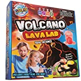 WILD! Science - WS/65L Volcano Lava Lab - Science Kits for Kids - STEM - Erupting Volcano Experiment, Multicolor