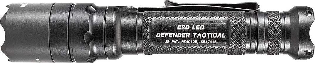 SureFire LED Flashlight, E2D Defender Tactical, Single Output, 1000 Lumens, Black, E2DLU-T
