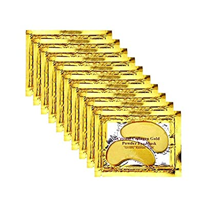 TEEROVA Under Eye Patches - 30 Pairs 24K Gold Eye Mask Power Crystal Gel Collagen Masks for Anti Aging, Dark Circles & Puffiness