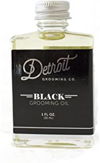 Detroit Grooming Co. Grooming Oil - Black - Oil For All Beards | Helps Soften And Condition Dry And Itchy Beards