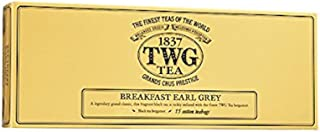 TWG Tea 1837, Breakfast Earl Grey, 15 count Hand Sewn Cotton Teabags, (1 Pack) product ID TWG9074 - USA Stock