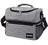 sac isotherme 15l sac repas imperméable 2 compartiments femme & homme lunch box isotherme, glaciere